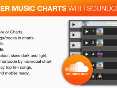 Soundcloud Music Charts With 2 Custom Skin WordPress Plugin