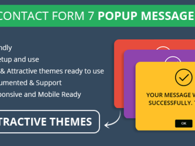 Contact Form 7 Popup Message WordPress Plugin