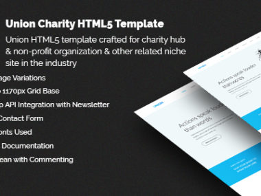 Union Charity HTML5 Template